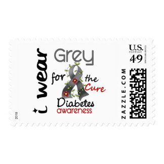 Diabetes I Wear Grey For The Cure 43 Stamp