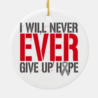 Diabetes I Will Never Ever Give Up Hope Double-Sided Ceramic Round Christmas Ornament