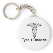 Diabetes ID Keychain Black