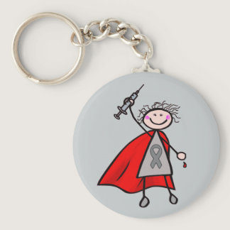 Diabetes Insulin Superhero Girl Keychain