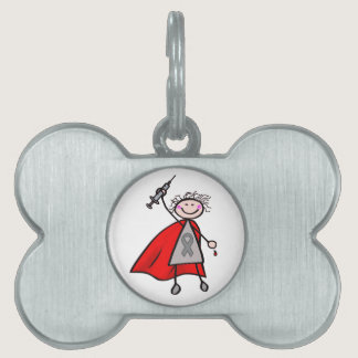 Diabetes Insulin Superhero Girl Pet ID Tag