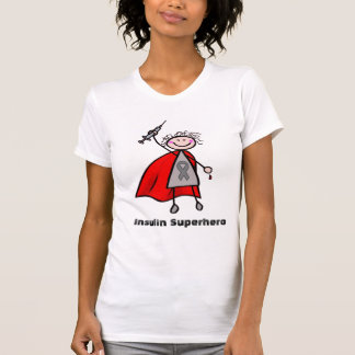 Diabetes Insulin Superhero Girl T-Shirt