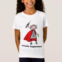 Diabetes Insulin Superhero Girl T-Shirt