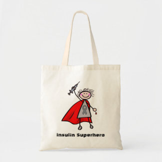 Diabetes Insulin Superhero Girl Tote Bag