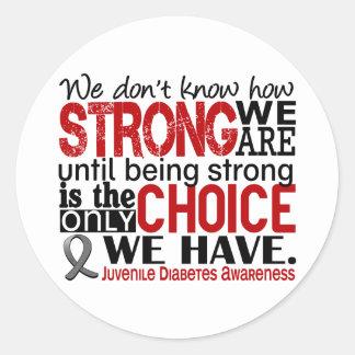 Diabetes juvenil cómo es fuerte somos etiqueta redonda