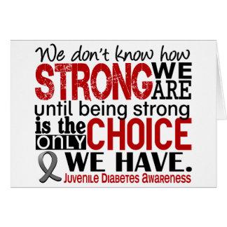 Diabetes juvenil cómo es fuerte somos tarjetón