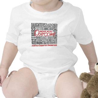 Diabetes juvenil cuadrada de la familia trajes de bebé