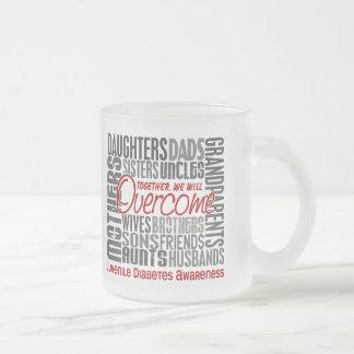 Diabetes juvenil cuadrada de la familia tazas de café