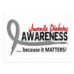 Diabetes juvenil de la conciencia 2 tarjeta postal