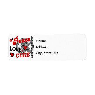 Diabetes juvenil de la curación 2 del amor de la etiquetas de remite