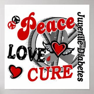 Diabetes juvenil de la curación 2 del amor de la p póster