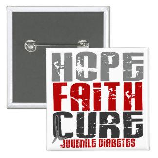 Diabetes juvenil de la curación de fe de la espera pins