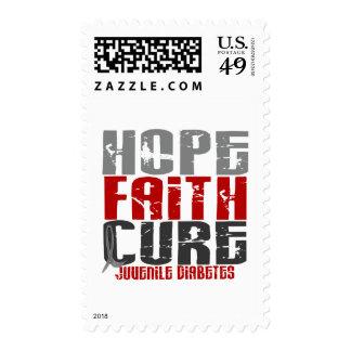 Diabetes juvenil de la curación de fe de la sello postal