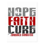 Diabetes juvenil de la curación de fe de la tarjeta postal