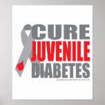 Diabetes juvenil de la curación poster