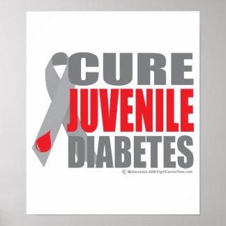 Diabetes juvenil de la curación póster