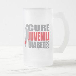 Diabetes juvenil de la curación taza cristal mate