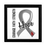 Diabetes juvenil de la esperanza 5 de la fe del va caja de recuerdo