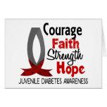 Diabetes juvenil de la esperanza de la fuerza de l tarjetas