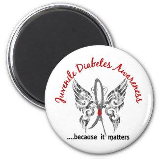Diabetes juvenil de la mariposa 6,1 del tatuaje de imanes de nevera
