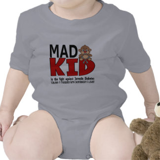 Diabetes juvenil del niño enojado trajes de bebé