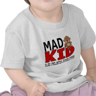 Diabetes juvenil del niño enojado camiseta