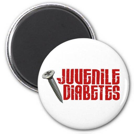 Diabetes juvenil del tornillo 2 imán de frigorífico