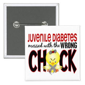 Diabetes juvenil ensuciada con el polluelo incorre pins