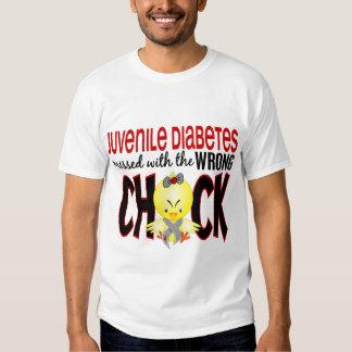 Diabetes juvenil ensuciada con el polluelo playera