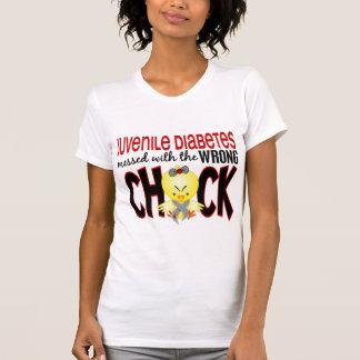 Diabetes juvenil ensuciada con el polluelo playeras