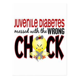 Diabetes juvenil ensuciada con el polluelo postales