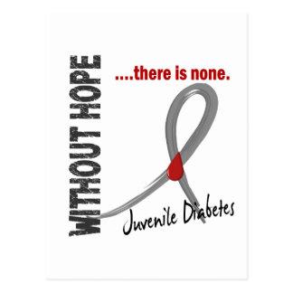 Diabetes juvenil sin la esperanza 1 tarjetas postales