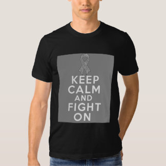 Diabetes Keep Calm and Fight On Tee Shirts