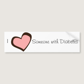 Diabetes Love Bumper Sticker