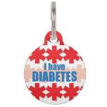 Diabetes Medical Alert ID Tag Pet ID Tags