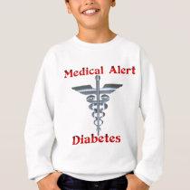 Diabetes Medical Alert Silvear Asclepius Caduceus Sweatshirt
