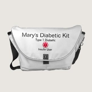 6dcd43aa8c Diabetes Medical Alert type 1 or 2 Courier Bag