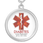 Diabetes Medical   Necklace: Customizable