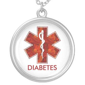 Diabetes Medical Pendant Necklace: Customizable