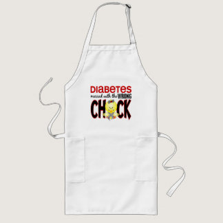 Diabetes Messed With The Wrong Chick Long Apron