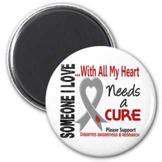Diabetes Needs A Cure 3 2 Inch Round Magnet