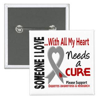 Diabetes Needs A Cure 3 Button