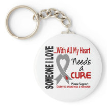 Diabetes Needs A Cure 3 Keychain