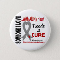 Diabetes Needs A Cure 3 Pinback Button