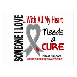 Diabetes Needs A Cure 3 Postcard