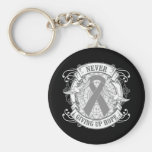 Diabetes Never Giving Up Hope Keychain