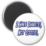 Diabetes… no Cooties Imán Redondo 5 Cm