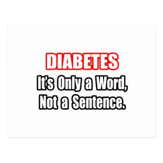 Diabetes...Not a Sentence Postcard