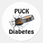 Diabetes Pegatina Redonda