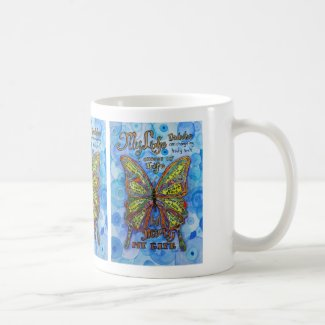 Diabetes Poem Rainbow Butterfly Art Coffee Mugs